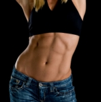 sexy female abs