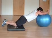 stability ball rollout finish position