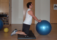 stability ball rollout start position