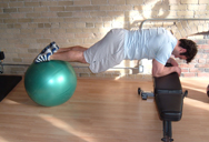 stability ball jacknife finish position